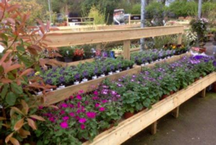 garden centre display benches timber displays products for garden centre and the