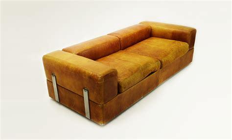 divani cinova divano letto 711 in pelle di tito agnoli per cinova uso