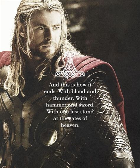 thor film loki quotes this is how it ends chris hemsworth thor the dark