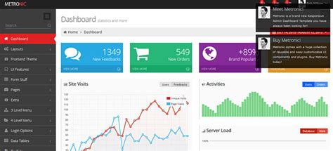layout bootstrap cms 46 free premium bootstrap admin templates web