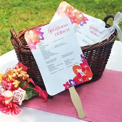 diy wedding program fans kit with design template