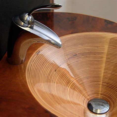 wood bathroom sink ammonitum s beautiful wooden bathroom fixtures core77