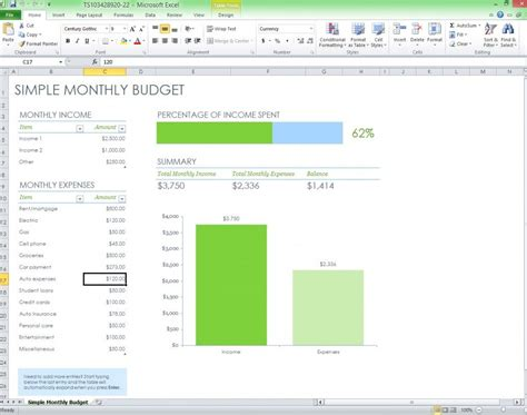 facilities budget template free monthly budget excel template from
