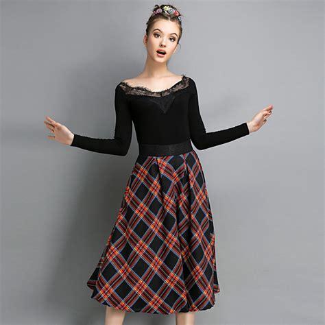 tartan skirt dressed up