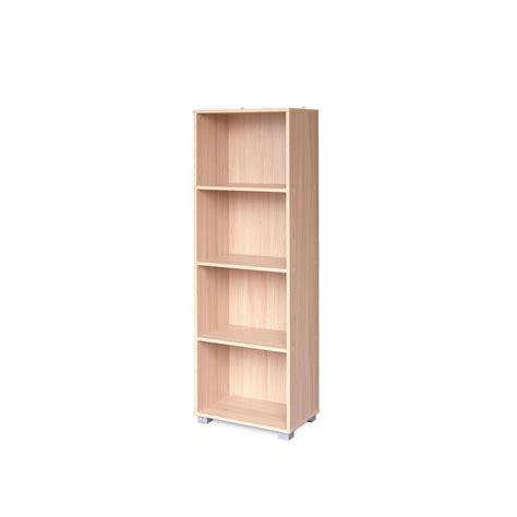 narrow oak bookcase sorento oak 4 tier narrow bookcase df05105usa the home depot