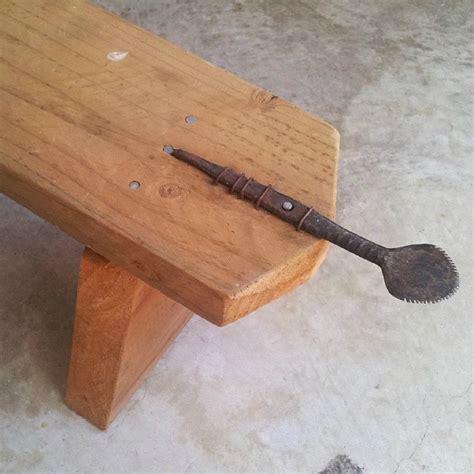 wooden bench philippines filipino store coconut grater scraper