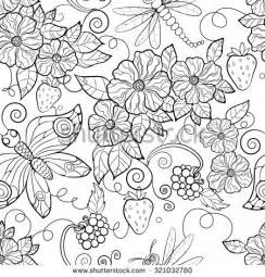 coloring templates for adults butterfly pattern flowers coloring pages adults stock
