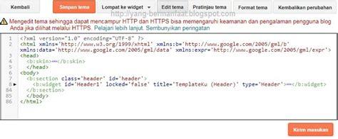 kode html membuat header cara membuat tema blogger dari nol 100 bisa 1