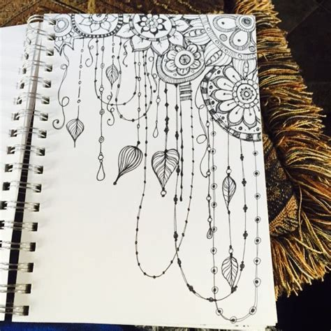 doodle drawings inspired by the below artwork by ashleyinzer on flicker