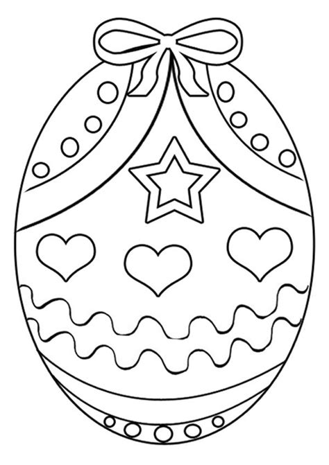 easter egg coloring pages pdf free online easter egg 4 colouring page kids activity