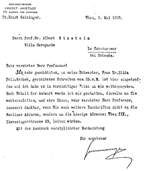 Business Letter Format Switzerland Albert Einstein In Turkey