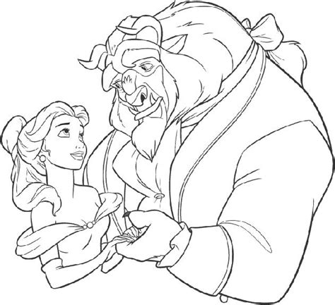 bella beast coloring pages