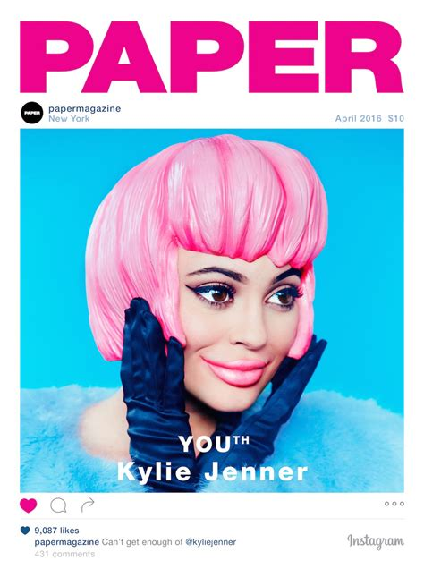 Paper From Magazines - jenner covers our youth issue