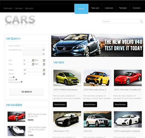 car html template 8 of the best joomla templates for car dealerships