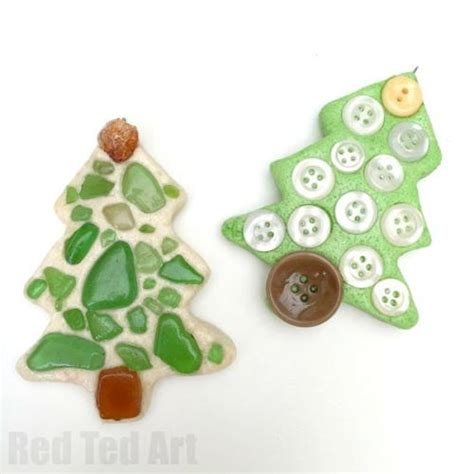 Handmade Tree Ornaments - salt dough tree handmade ornaments