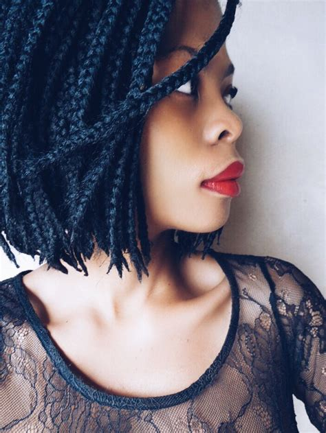 short box braids hairstyles cut hair bob box braids