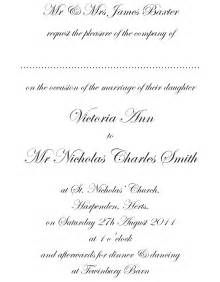 formal wedding reception card wording formal invitation wording template best template collection
