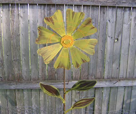 metal flower garden stakes flower garden stake metal garden by northwindmetalart