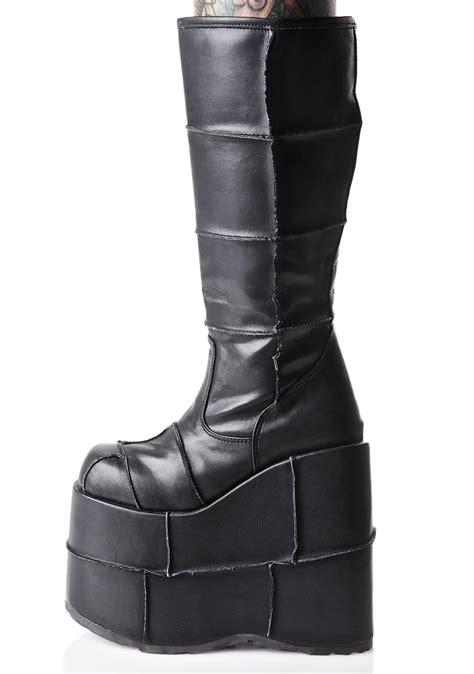 demonia platform boots demonia stack patched platform boots dolls kill