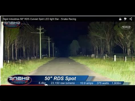 snake racing led light bars rigid industries 50 quot rds curved spot led light bar snake