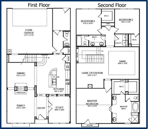 apartments 2 story cabin floor plans story house plans