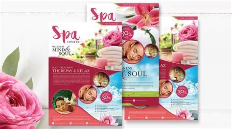 design flyer spa 2 beautiful spa treatment promotional flyer design templates