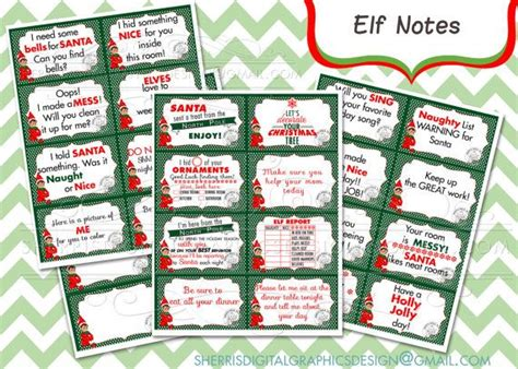 printable elf on a shelf notes note from your elf on the shelf diy printable instant