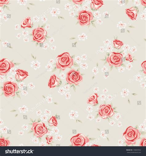 simple vintage pattern background floral seamless vintage pattern shabby chic stock vector