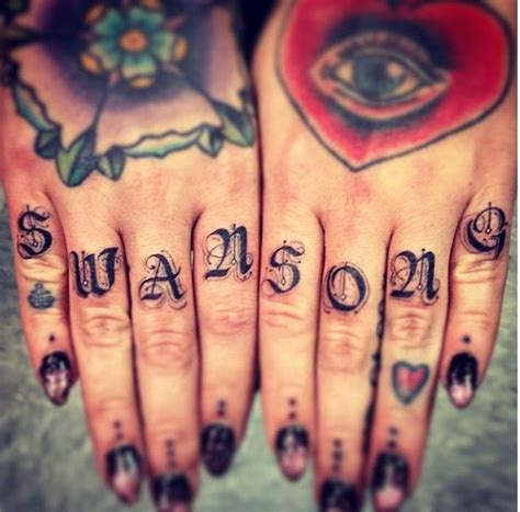 tattoo fonts for fingers 89 best images about knuckle tattoos on