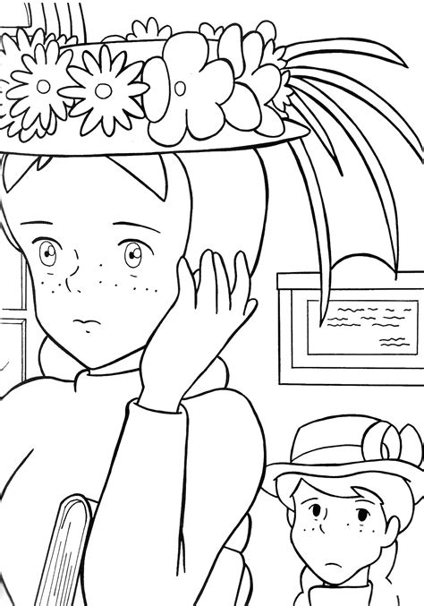 anne of green gables coloring pages az coloring pages