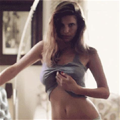 girl no bra gif sexy lake bell gif find share on giphy