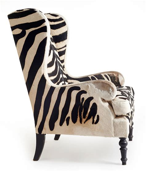 zebra pattern chair 20th century faux zebra wingback chairs fritz hollander