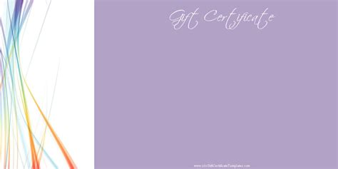 free gift card design template printable gift certificate templates