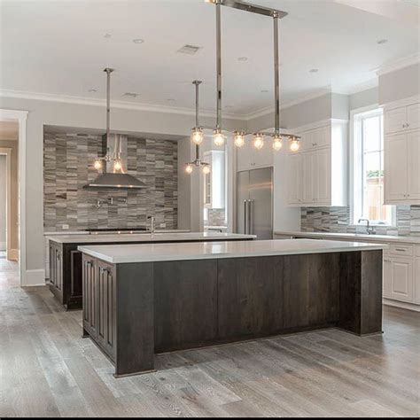 marble double island kitchen for the home pinterest we love this double island kitchen huge open kitchen