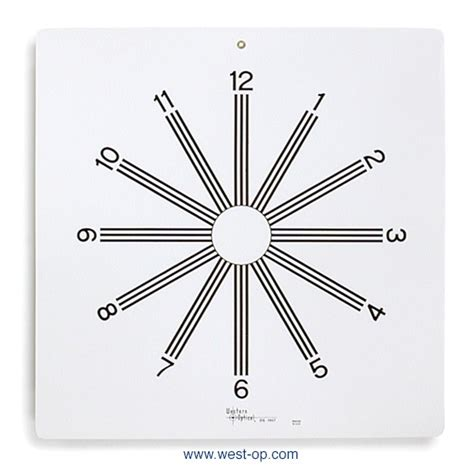 astigmatic clock eye chart