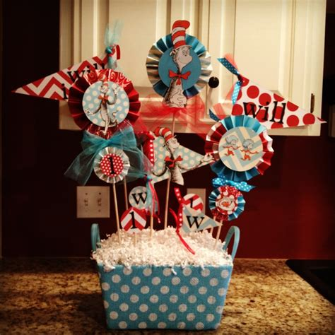 the cat in the hat dr seuss birthday party centerpiece