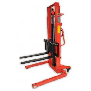 Manual Straddle Stacker High Lift Pallet Truck Stop