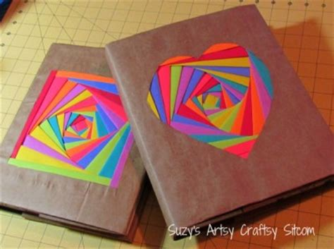 How Do You Make A Paper Bag Book Cover - colorful book covers family crafts