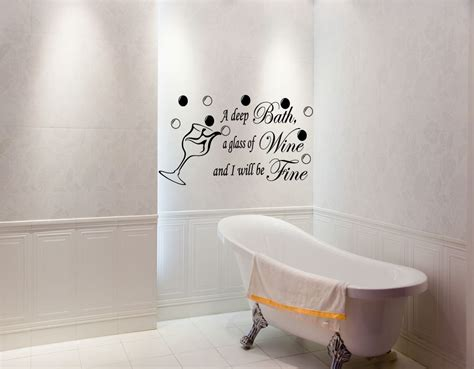 Vinyl Bad Wand by Bathroom Paintings Bath Wine Be Bathroom