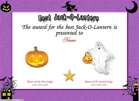 hallowen certificates templates certificate templates