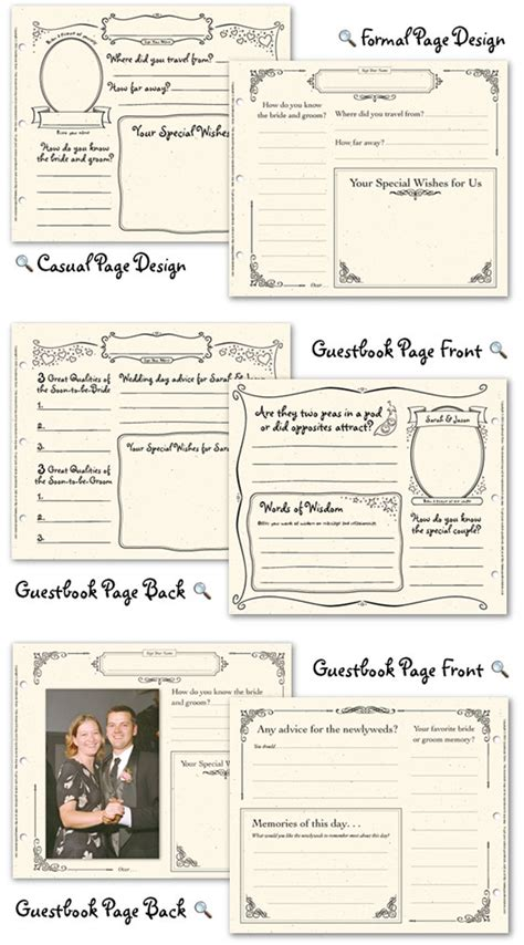 wedding guestbook template 4 best images of wedding guest book printable pages free