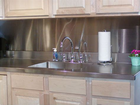 Kitchen Stainless Steel Backsplash Modern Furnishings Stainless Steel Sink Counter