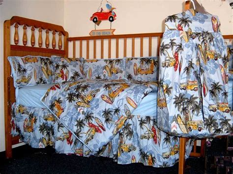 Surfboard Crib Bedding Surfer Baby Crib Bedding