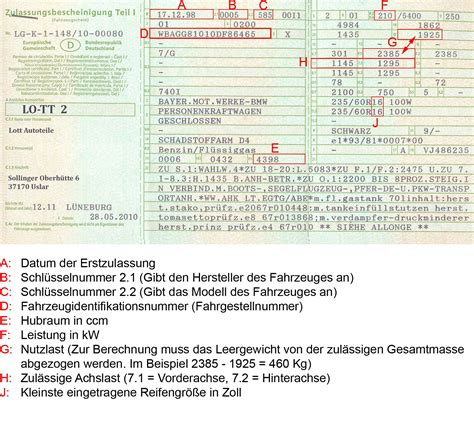 Auto Anmelden Ohne Fahrzeugschein by Fahrzeugschein Artikel Im Lott Autoteile Shop Bei Ebay