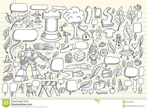 how to use doodle to set up a meeting notebook doodle sketch vector set stock photography