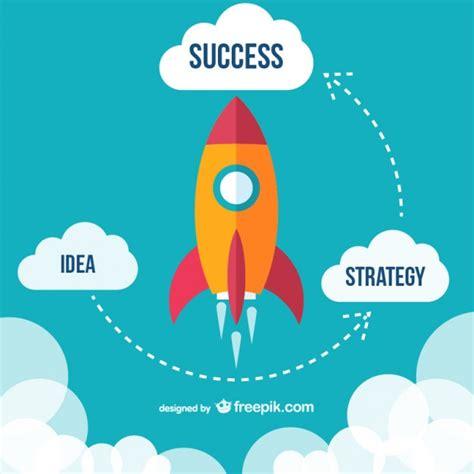 startup rocket vectors   psd files