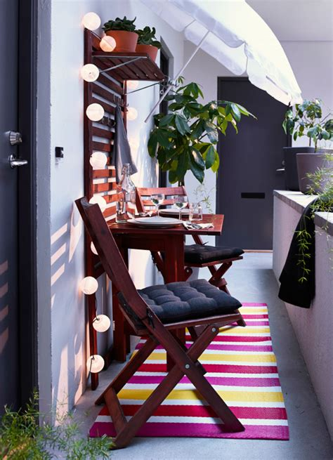 ordinary Small Room Furniture Ideas #1: small-ikea-balcony-with-lighting-ideas.jpg