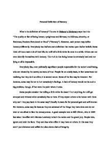 Essay On Honesty by Definition Of Honesty A Level Marked By Teachers