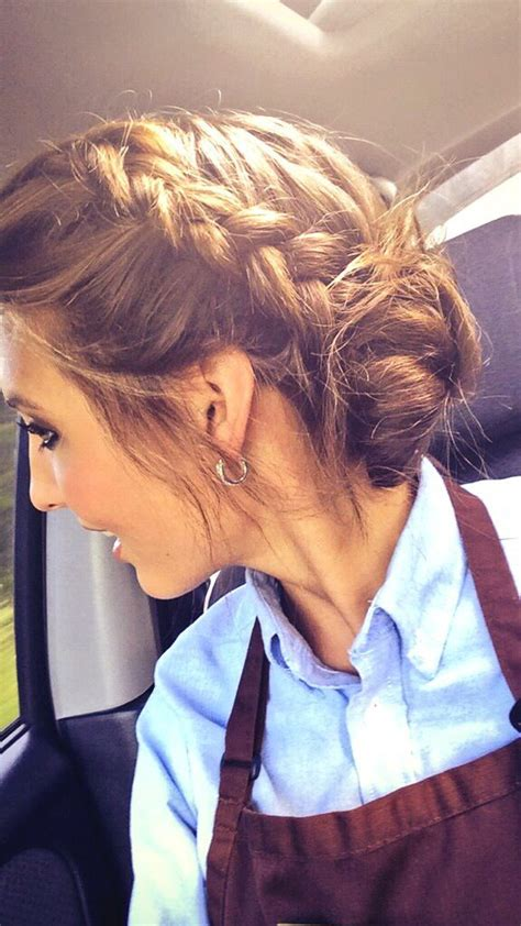 easy hairstyles for waitresss a fun updo braided surf bun made the cut pinterest