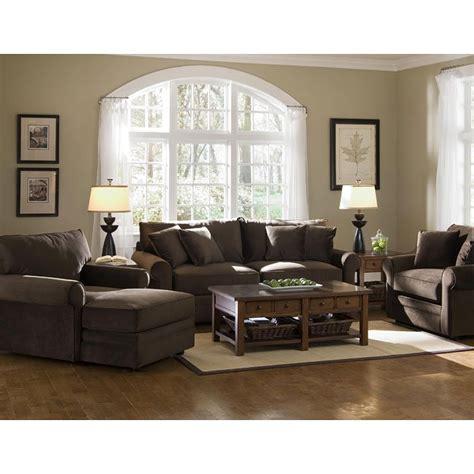comfy living room set belsire chocolate klaussner furniture cart